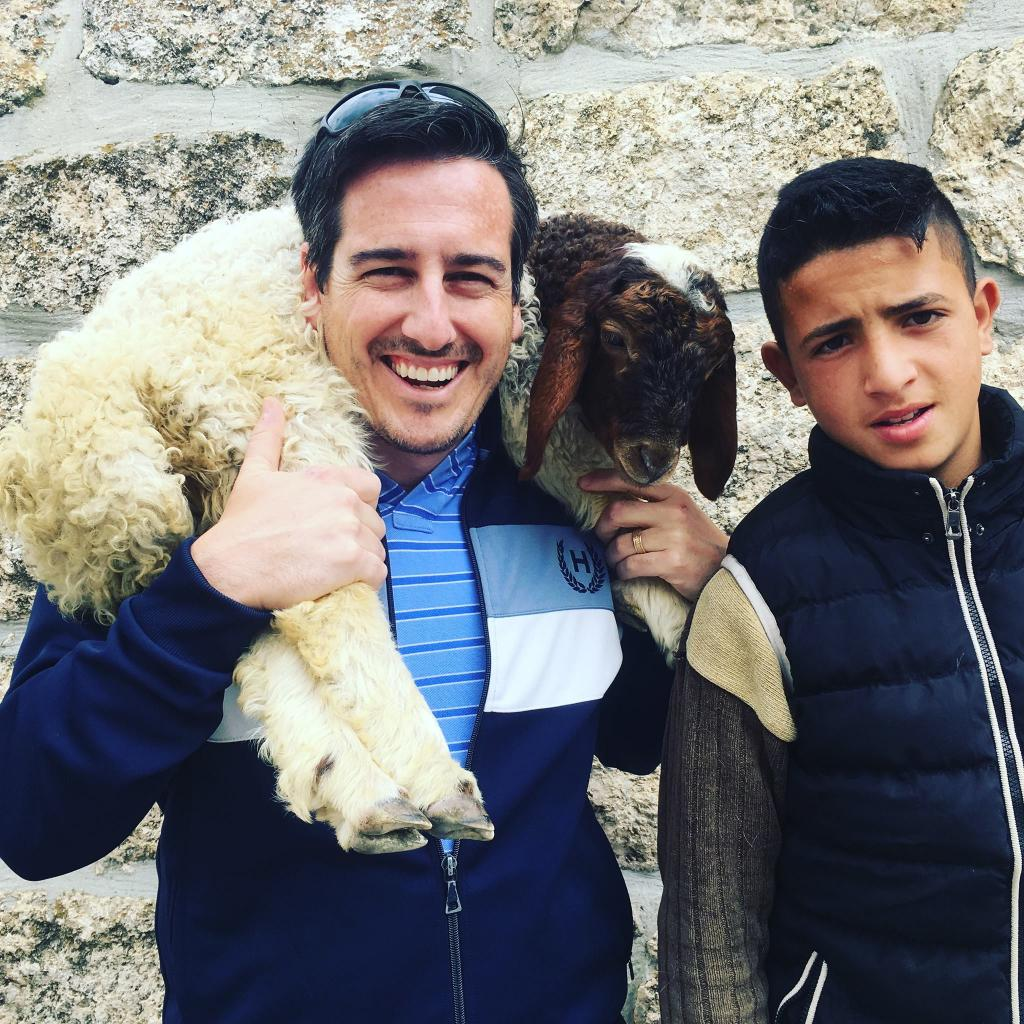 I got to hangout with a shepherd boy in Bethlehem  next to the field where the angels appeared to shepherds to announce Jesus' birth. Pretty cool!
