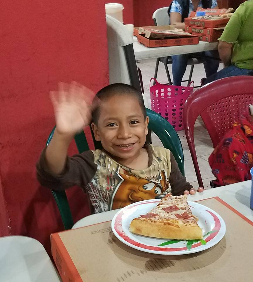 pizza party casa shalom orphanage in Guatemala