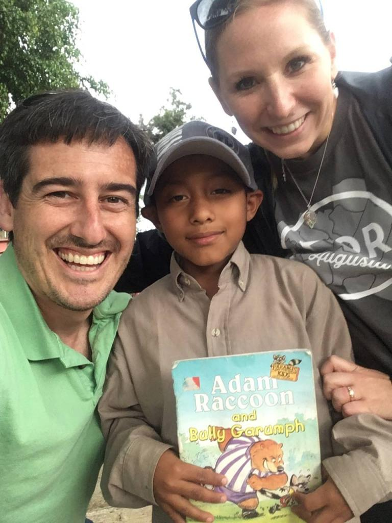 Dave and Ashley Willis with Luis at Casa Shalom Orphanage in Guatemala