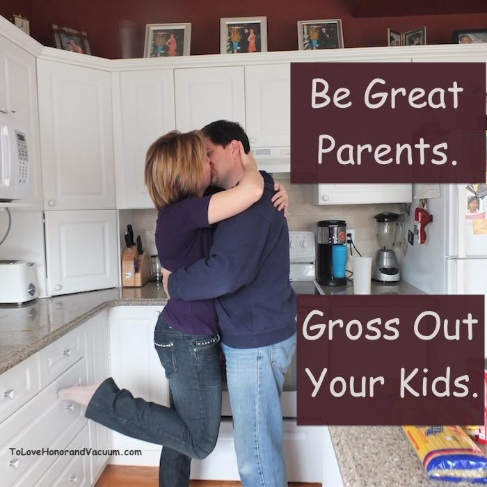 Be Great Parents. Gross out your kids.
