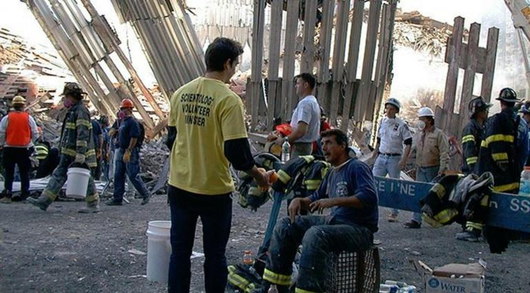 Scientology Volunteer Ministers served at Ground Zero, helping the first responders cope with the overwhelming task.