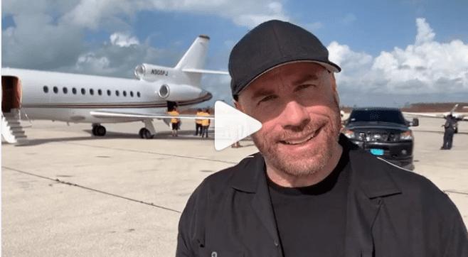 John Travolta's instagram video, encouraging people to help the Bahamas.