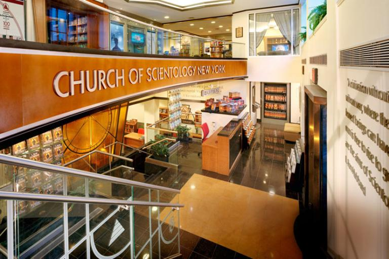 Inside the Church of Scientology New York, the city where Bernard was first introduced to Scientology in 1968.