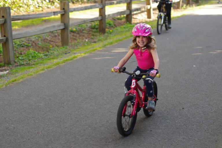 "My youngest used this ""isolation"" time to actually properly learn how to ride a two-wheeler. You can see how distraught she is about this accomplishment."