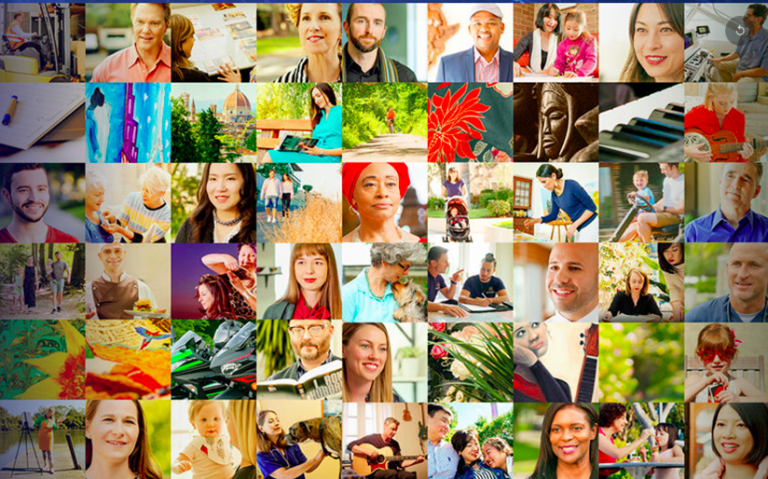 """A collage of Scientologists featured in """"I am a Scientologist"""" on the Scientology Network"""