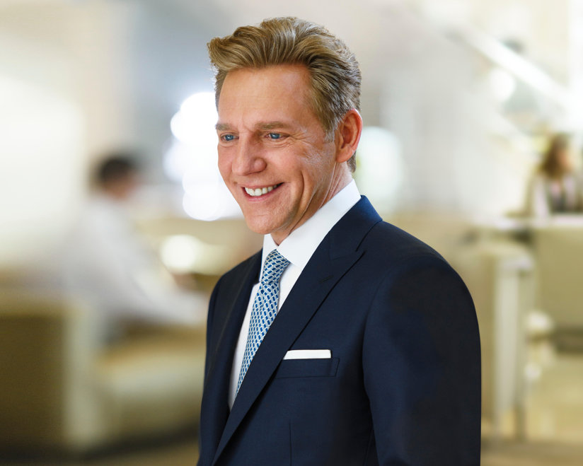 David Miscavige, Chairman of the Board Religious Technology Center and ecclesiastical leader of the Scientology religion, at the Church's spiritual headquarters in Clearwater, Florida