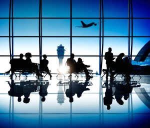 Group Of Business People Waiting In An Airport