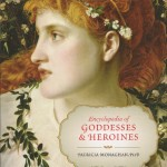 """The cover of Pattria Monaghan's """"Encyclopedia of Goddesses and Heroines."""""""