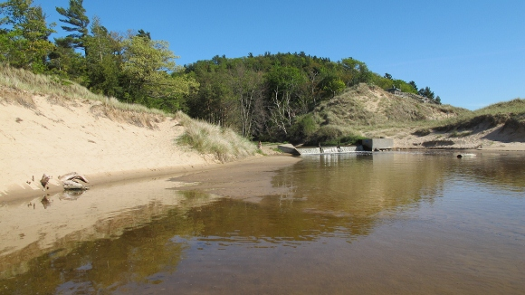 A tall dune along Lake Michigan known locally as Eagle top. Photo by Barbara Newhall