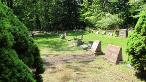 A gravesite in Scotville Michigan where Falconers are buried. Niece said Kaddish for her Jewish aunt. Photo by Barbara Newhall