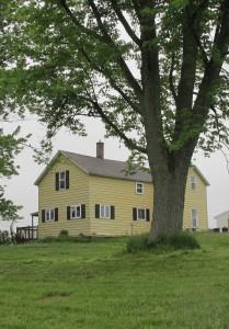 Kaddish. An early 20th century frame farmhouse near Scottville, Michigan. Photo by Barbara Newhall