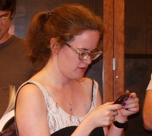 Author Lauren F. Winner at the Glen Workshop in Santa Fe. Photo by Barbara Newhall