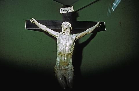 Religious art. Crucifixion Daniel Faust (American, born 1956) Date: 1984 Medium: Silver dye bleach print