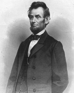 """Abraham Lincoln"" by D. Van Nostrand - Moore, Frank, ed. Portrait Gallery of the War. New York: D. Van Nostrand, 1865.. Licensed under Public Domain via Wikimedia Commons."