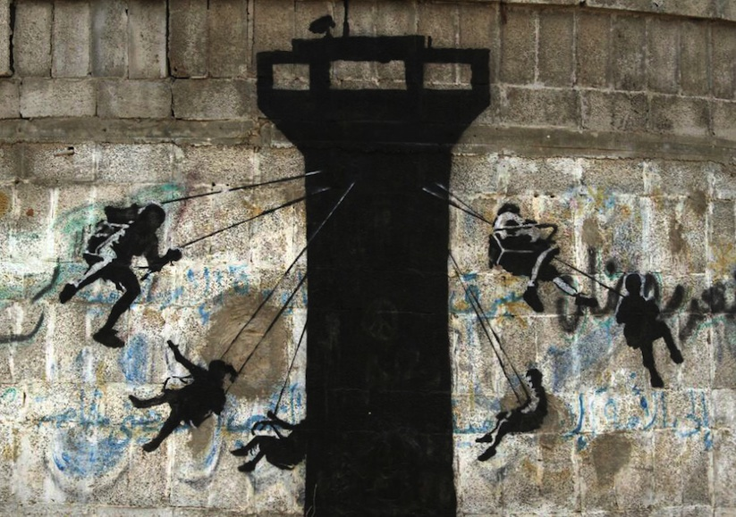 Street-Art-Pieces-by-Banksy-in-Gaza_1