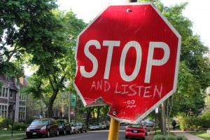 Graffit Stop Sign