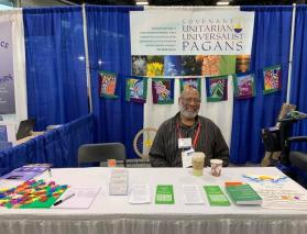 2019 CUUPS General Assembly Booth with Om Prakash in Spokane, WA