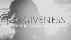 forgveness bible study