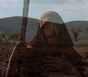 "Peter O'Toole as Obi Wan Yahwobi in the 1966 epic ""The Bible."""