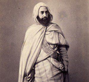 Abd el-Kader, photographed in Damascus, 1860.