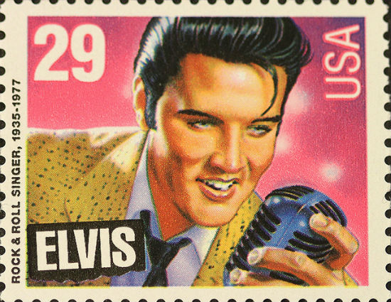 Flickr photo of Elvis postage stamp by John Flannery.