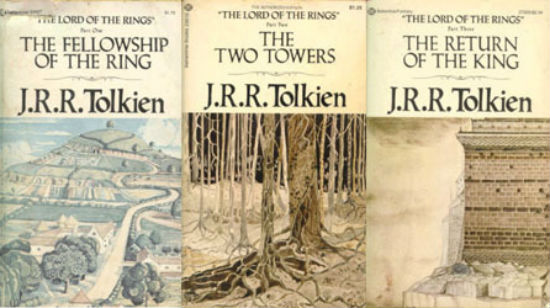 I read these four times, yet somehow never noticed any of the bits about hobbits or elves.
