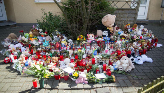 "After the Event, there would be shrines like this at every school, playground, and Chuck E. Cheese. But there are no memorials to any of the missing children in ""Left Behind."""