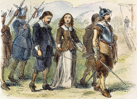 Mary Dyer, a Christian, was executed for freely exercising her religion in violation of the established Christian religion of Boston.