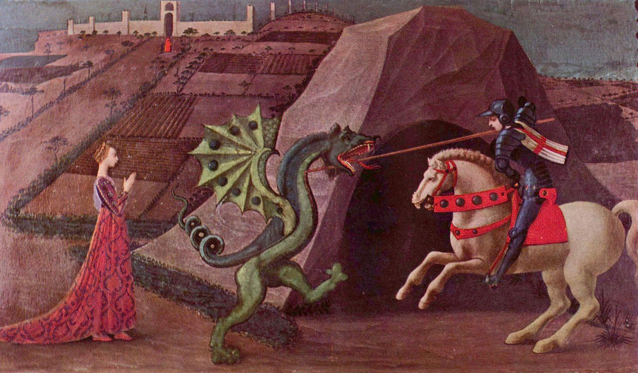 The Princess and the Dragon, by Paolo Uccello (c. 1470)