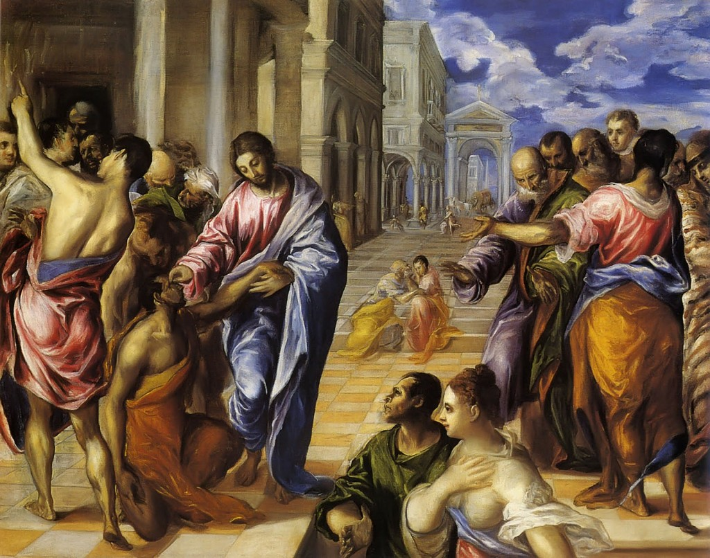 """Christ Healing the Blind Man,"" El Greco, 1560"