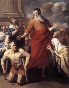 "Karel Dujardin, ""St Paul Healing the Cripple at Lystra""; 1663 Oil on canvas."