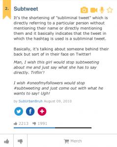 subtweet definition