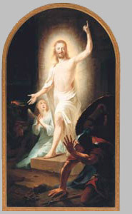 Johann Heinrich Tischbein the Elder: Resurrection, 1778. United States Public Domain