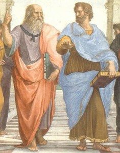 Plato and Aristotle, 'The School of Athens,' by Rafael, Public Domain