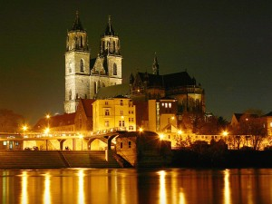 Magdeburg Cathedral, Magdeburg, Germany, photo by Prinz Wilbert, Wikimedia Commons: https://commons.wikimedia.org/wiki/File:Magdeburger-Dom-Nachts.jpg