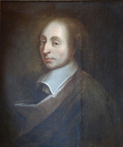 Blaise Pascal, unknown; a copy of the painting of François II Quesnel, which was made for Gérard Edelinck in 1691
