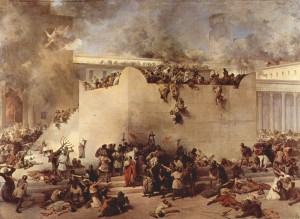 Fall of Jerusalem temple in AD 70