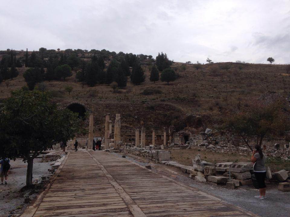 The view from the entrance to Ephesus. Photo by the author.