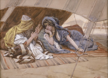 Abram and Sarai, watercolor by James Tissot, turn of the 20th century. Image in the public domain, taken from Wikipedia.