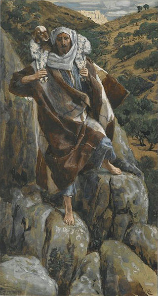The Good Shepherd, James Tissot, 1886-1894. Image is in the public domain, uploaded by the Brooklyn Museums, and taken from Wikipedia.