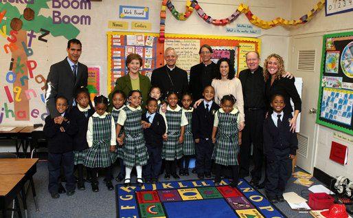 LB. Visit to Holy Redeemer Catholic School. https://georgewbush-whitehouse.archives.gov/news/releases/2008/01/images/20080130_p013008sc-0066-515h.html