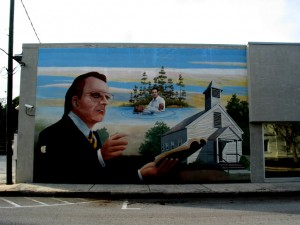 Billy Graham mural in Palatka, FL, c/o Christopher Sessums