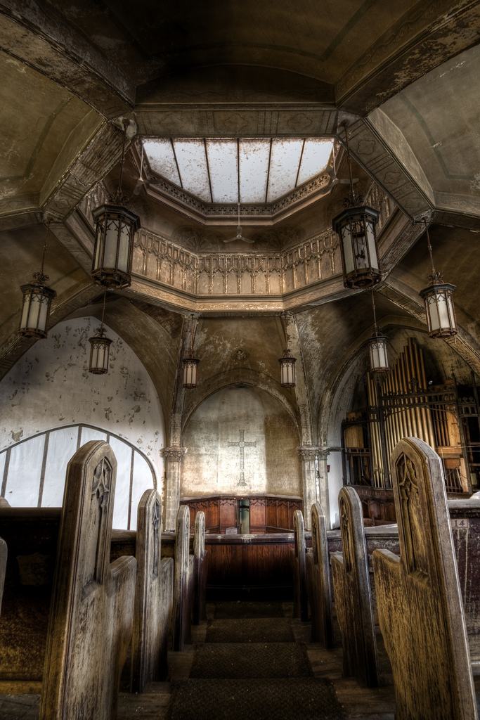 Detroit's seen its fair share of churches fall into disrepair and abandonment. (Credit: Rick Harris, CC-SA license.)