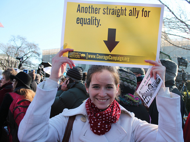Str8 but not narrow. (Credit: Elvert Barnes, CC license.) Equality rally in Washington DC, 2013.