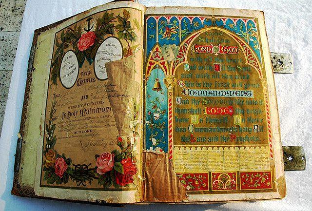A 120-year-old Bible. (Credit: Wonderlane,  CC license.)
