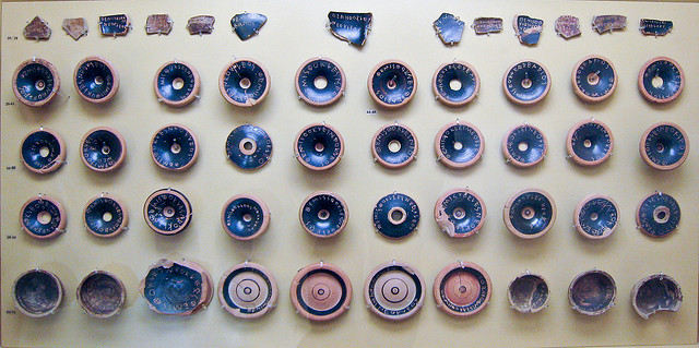 The ostracism of Themistocles in 482BCE. Boy, sometimes... (Credit: Sharon Mollerus, CC license.)