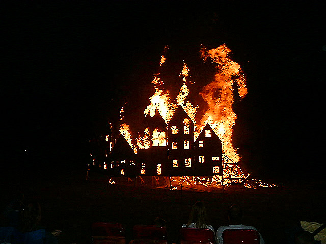 Burning Down the House. (Credit: Joseph Krawiec, CC license.)