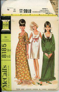 McCalls 8185 dress pattern. I don't know if this is what she used, but the dress looks most like the yellow one here.