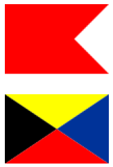 Bravo Zulu, the ultimate awesome signal flag. (Public Domain.)