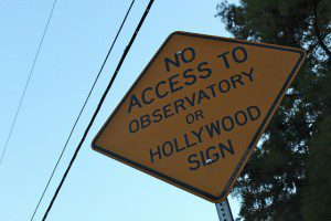 NO Hollywood access. (Credit: Eli Duke, CC-SA.)